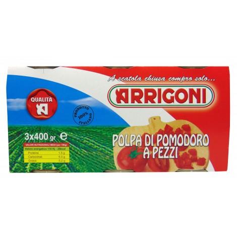 Polpa di Pomodori a pezzi Tris