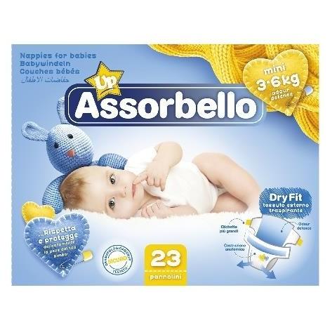 ASSORBELLO Dry Fit 1 Mini 3-6Kg 23 Pannolini