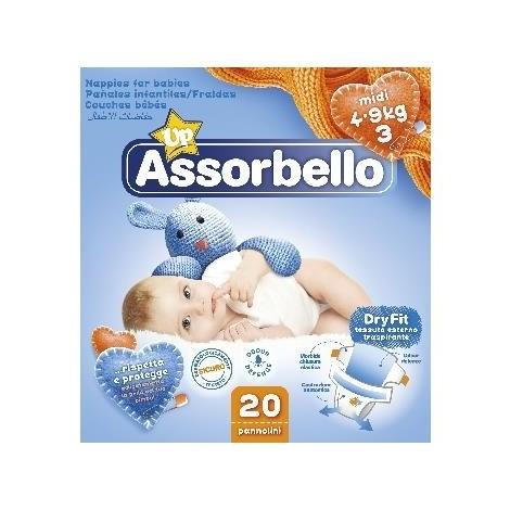 ASSORBELLO Dry Fit 3 Midi 4-9Kg 20 Pannolini