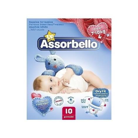 ASSORBELLO Dry Fit 4 Maxi 7-18Kg 18 Pannolini