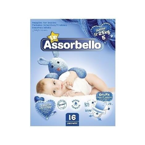 ASSORBELLO Dry Fit 5 Junior 11-25Kg 16 Pannolini