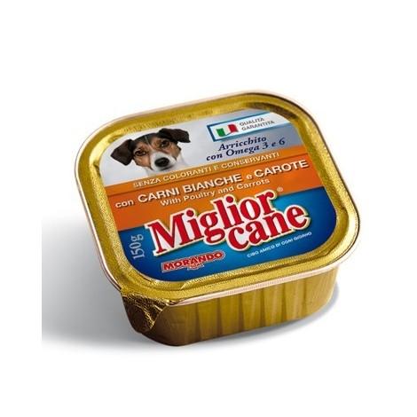 Patè Carne Bianca e Carote MIGLIOR CANE 150g - 8007520011907