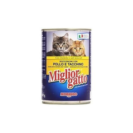 Bocconcini Pollo e Tacchino MIGLIOR GATTO 405g - 8007520012188