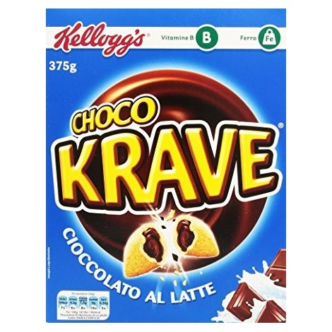 Choco Krave al Latte KELLOGG 375g -5050083919916